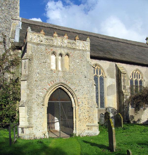 St Andrew, Hempstead, Norfolk - Porch