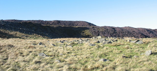 The lower and middle rubbish runs of Cefn Du Quarry from the Cook&Ddol Quarry
