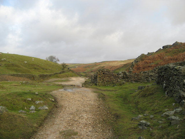 Disused Lead Mines by Hebden Beck