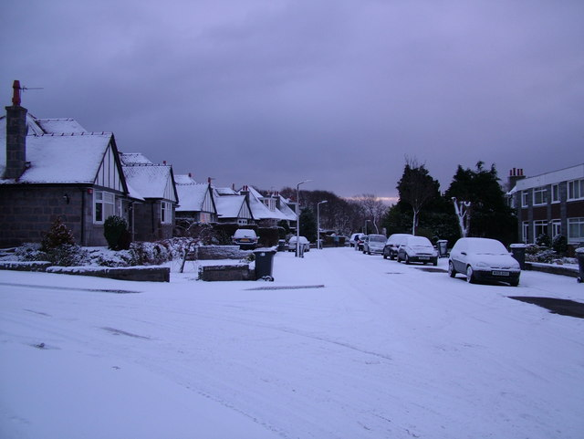 Kingshill Road in the Snow