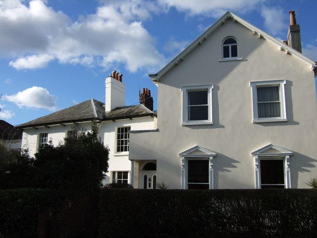 Houses on St Leonard's Road, Exeter