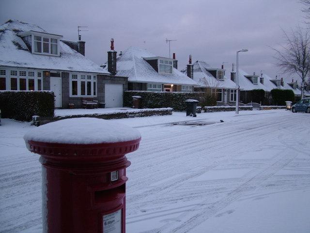 Woodhill Road in Winter