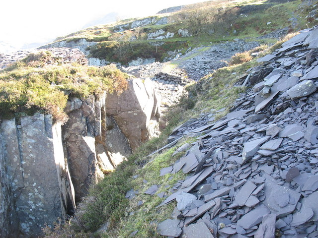 The causeway across the Cook pit from the top of the cutting