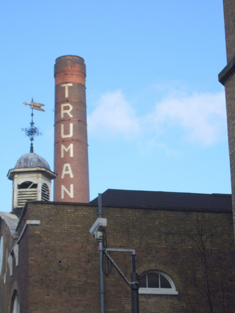 Truman's Brewery chimney and clocktower