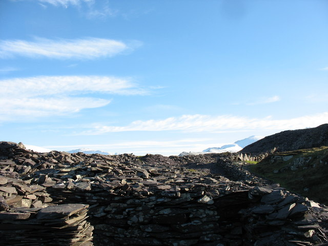 A rubbish run at the mill level of Cook&Ddol Quarries