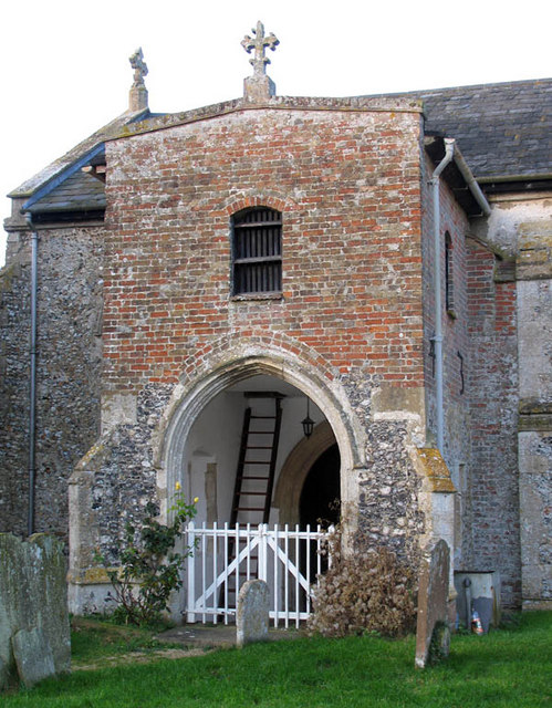 St Mary, Little Fransham, Norfolk - Porch