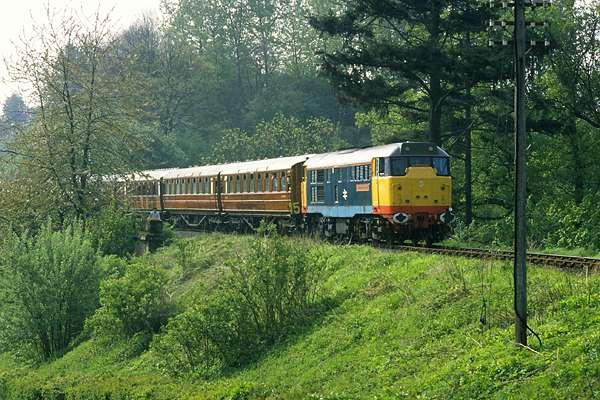 Severn Valley Railway near Daniel's Mill