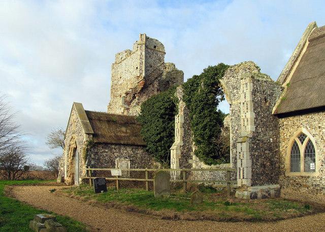 All Saints, Billockby, Norfolk - Ruin