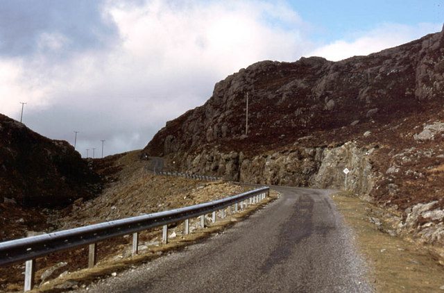 The Rhenigidale road climbing up to the pass