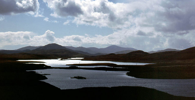 View southwards from above Loch Sgaire