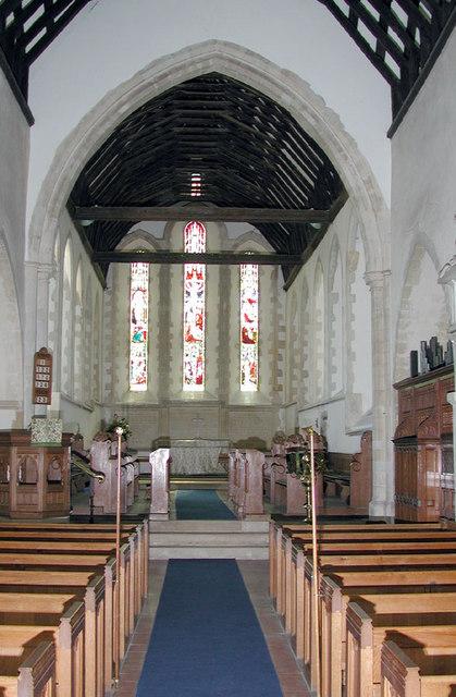St John the Evangelist, Ickham, Kent - East end