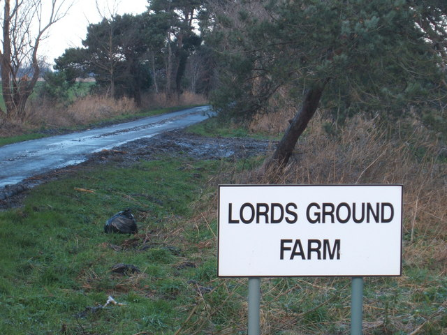 Entrance road to Lords Ground Farm, Swaffham Prior Fen