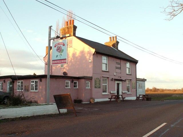 'The Crowfield Rose' inn