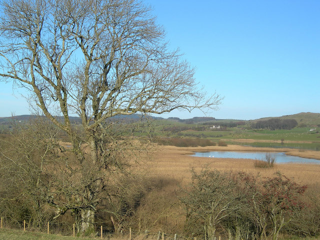 The Ken-Dee Marshes from Balmaghie Churchyard
