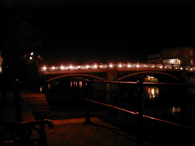 Windsor Bridge at night