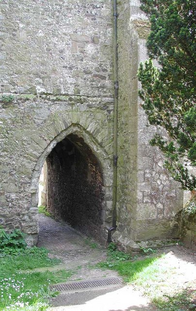 St George, Wrotham, Kent - Passage under tower