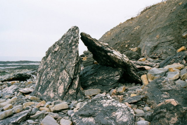 Rock formation at Blue Anchor