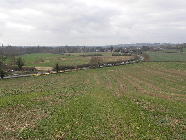 The road to Lubenham.