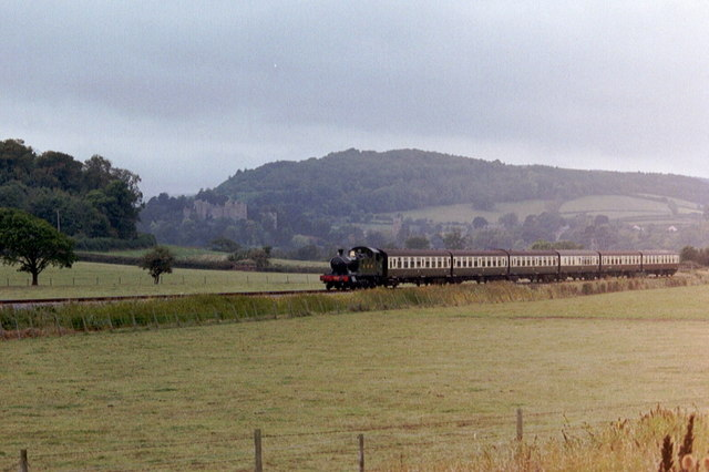The Minehead Train looking towards Dunster Castle