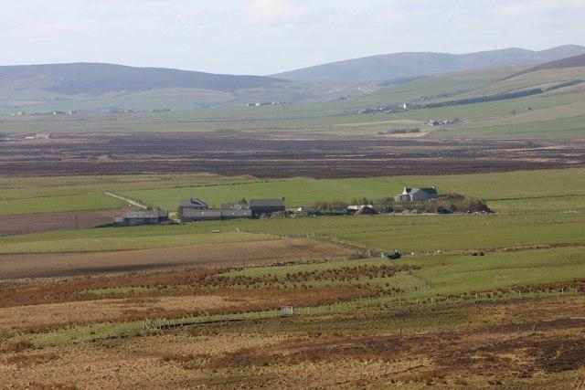 Ellibister and surrounding farm land