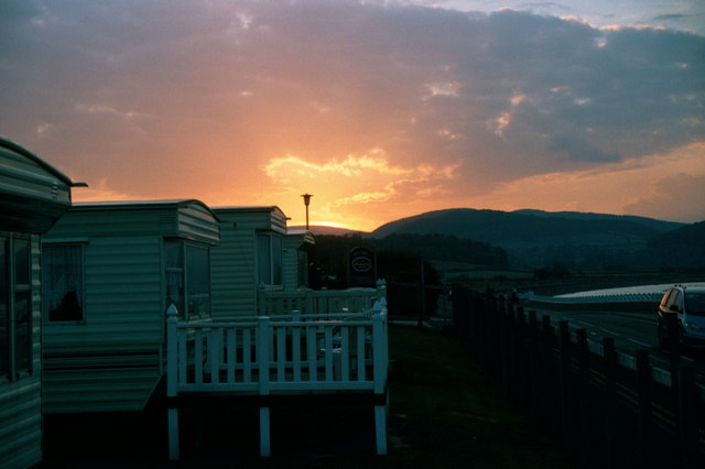 Sunset at Blue Anchor