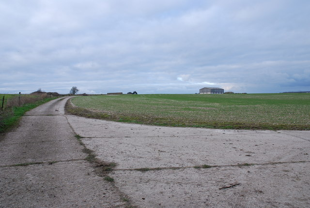 Tarrant Rushton airfield - perimeter road