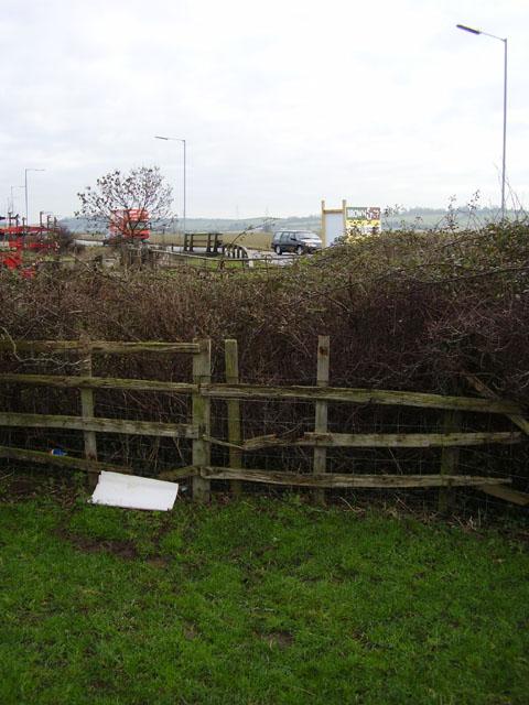 Disputed footpath at A52 Sedgebrook