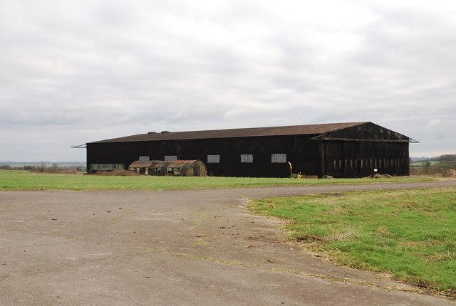 Hangar on Tarrant Rushton airfield