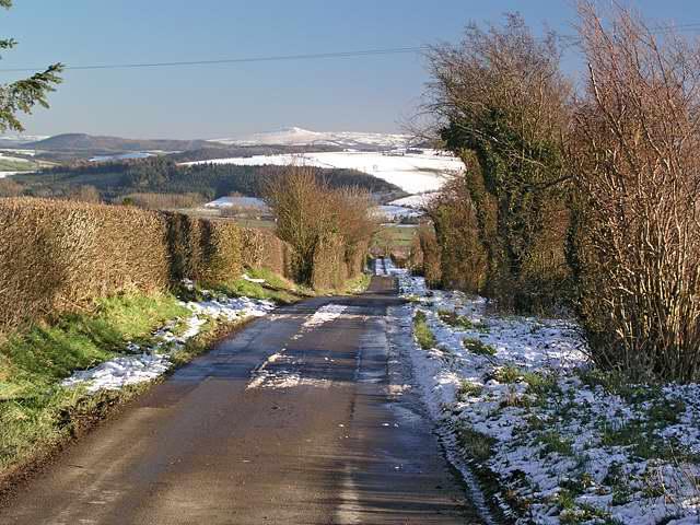 Snowfall in Kerry Lane, Bishop's Castle