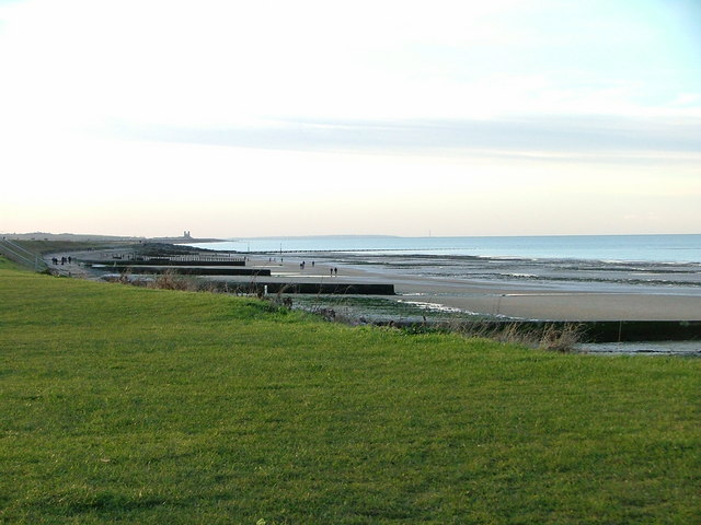 Minnis Bay looking towards Reculver towers