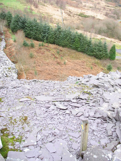 View from the top - looking back to the bottom of the old reduction level path