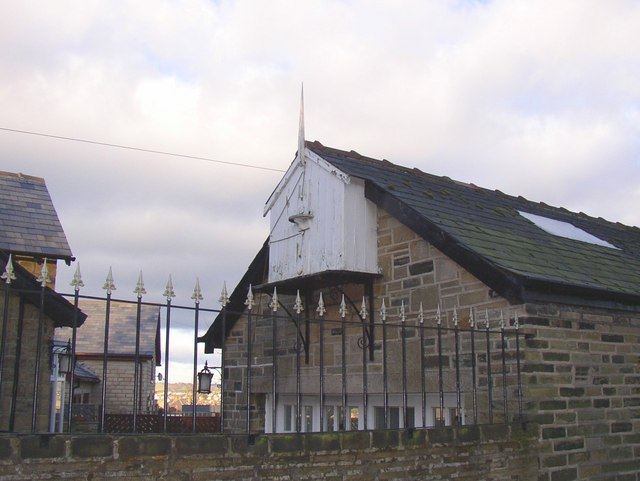Unusual structure on garage, Shepherds Thorn Lane, Rastrick