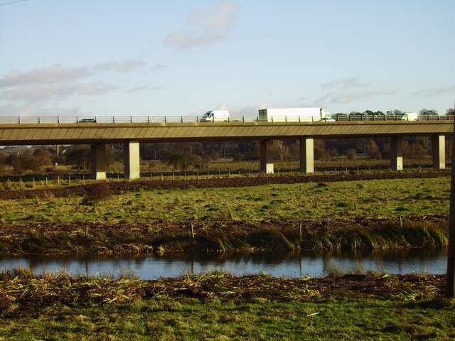 Elevated sectionof A10 across the Meads at Ware