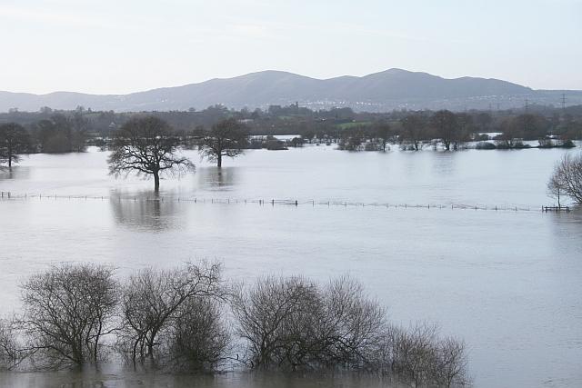 Severn Flood Plain from the Carrington Bridge