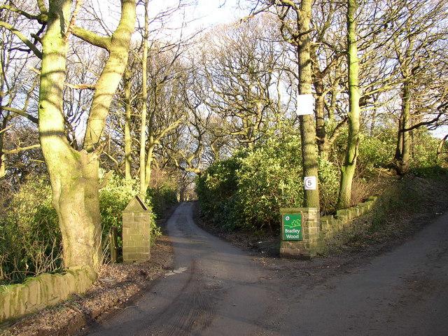 Entrance to Bradley Wood Scout Camp, Shepherds Thorn Lane, Bradley, Huddersfield