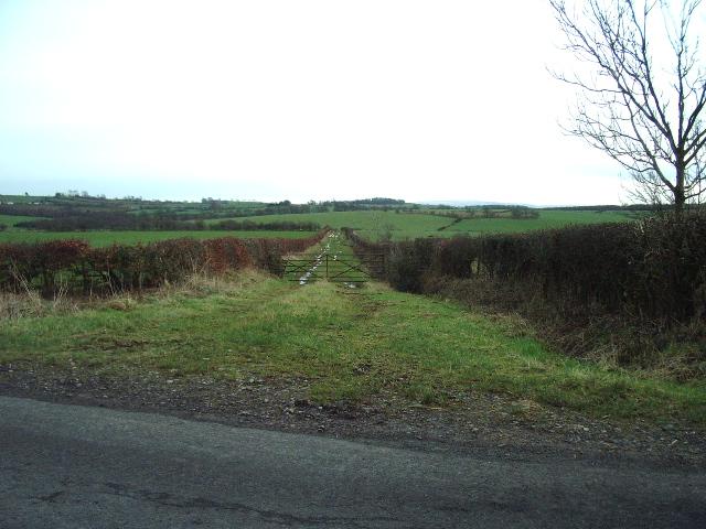 Track opposite Hilltop Farm
