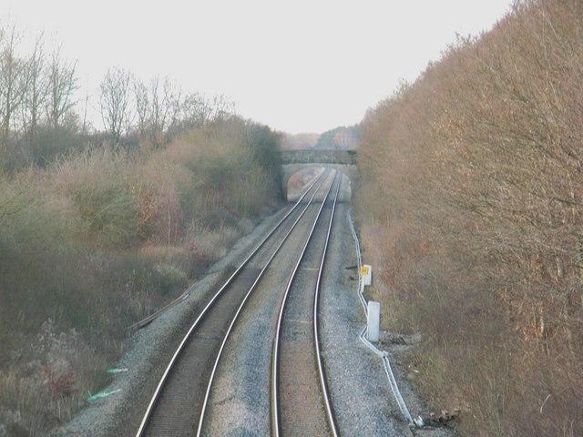 Railway line, looking North