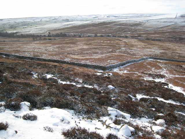 Park Wall and the valley of Thornhope Beck