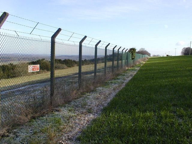 Fence around MOD depot