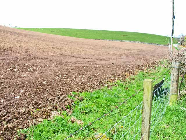 Ploughed field near South Clutag
