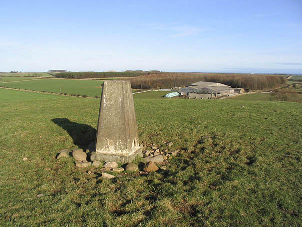 The trig point on Ell Hill
