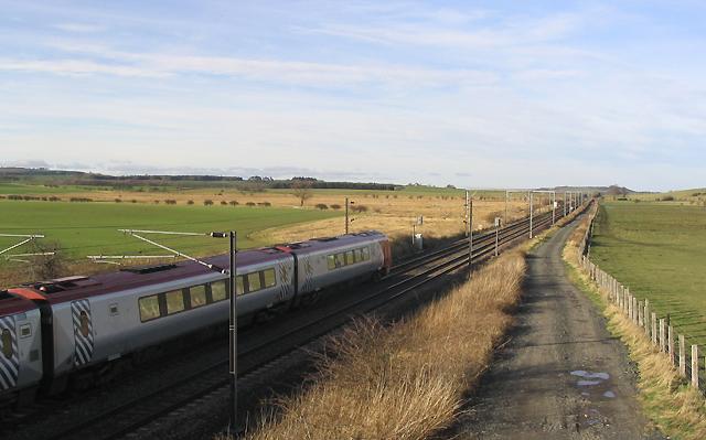 The East Coast Line at Newham Bridge