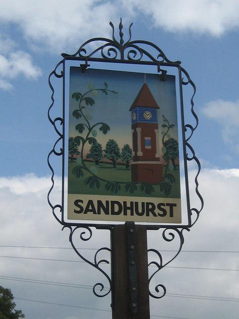 Sandhurst village sign
