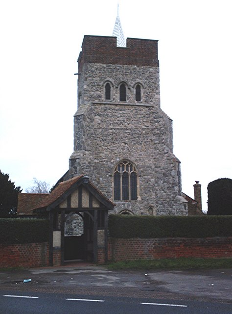 Lych-gate and tower - St. Mary and All Saints