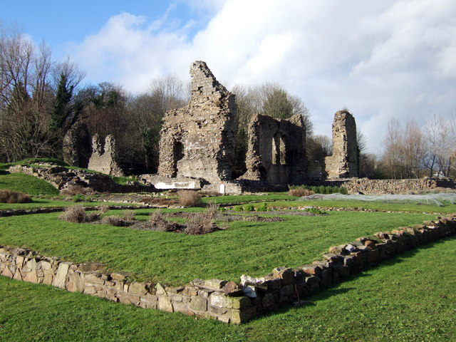 Monastic garden  at Haverfordwest priory