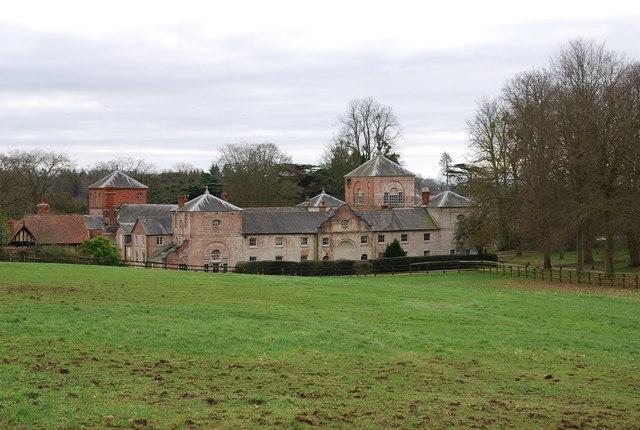 Farm courtyard buildings on Crichel House estate