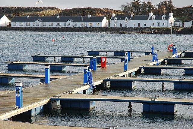 The pontoons at Port Ellen in winter
