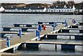 NR3645 : The pontoons at Port Ellen in winter by Patrick Mackie