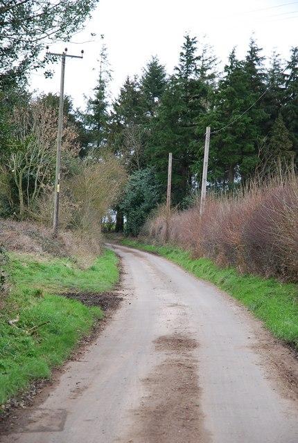 Lane to Cock Road Farm