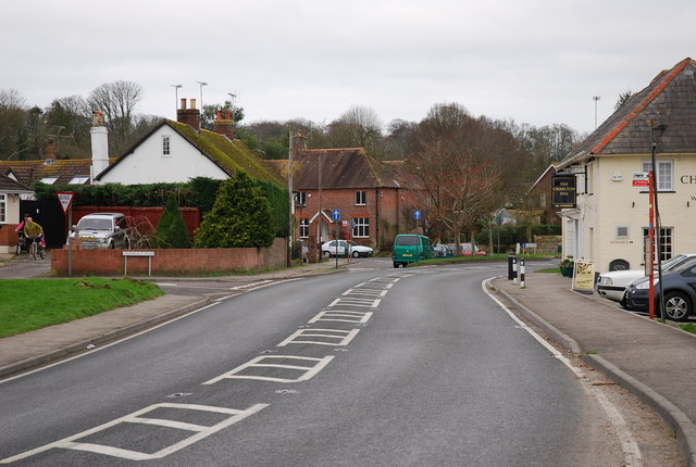 Road through Charlton Marshall